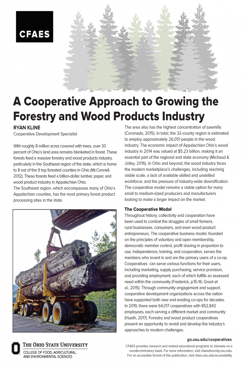 A Cooperative Approach to Growing the Forestry and Wood Products Industry