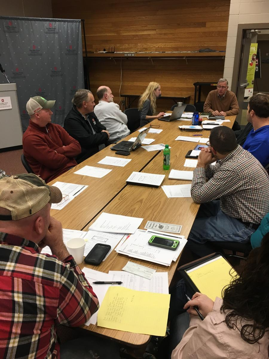 Meeting of the Southern Ohio Growers Cooperative.