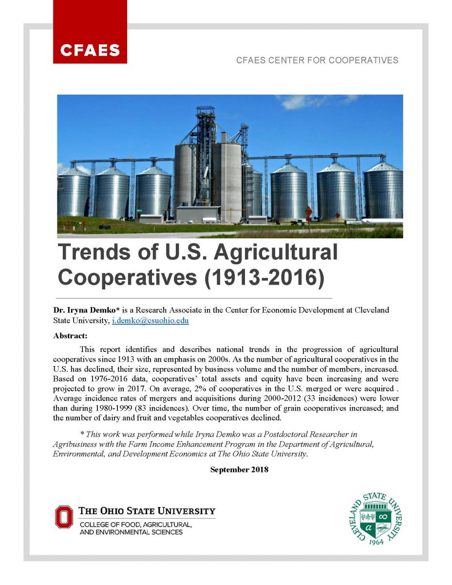 Trends of US Agricultural Cooperatives cover page