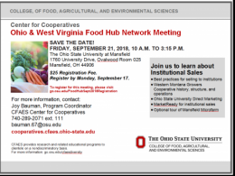 OH & WV Food Hub Network Meeting September 21, 2018