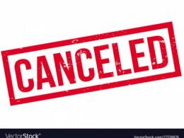 COVID-19 Cancellations
